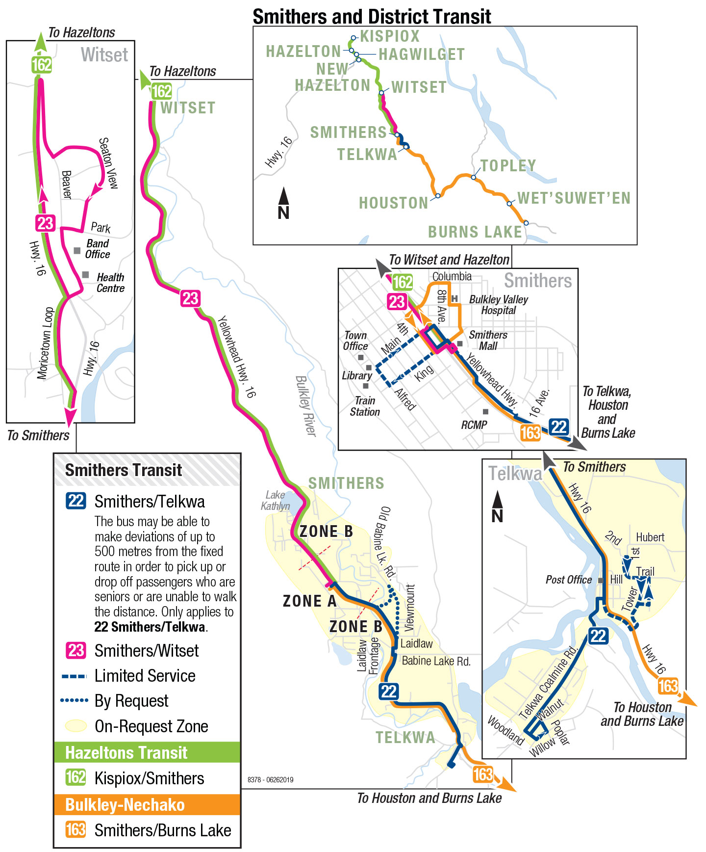 Map smithers bc Smithers Map