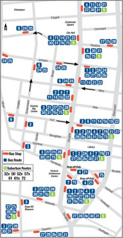 Victoria Downtown Priority Corridors Map