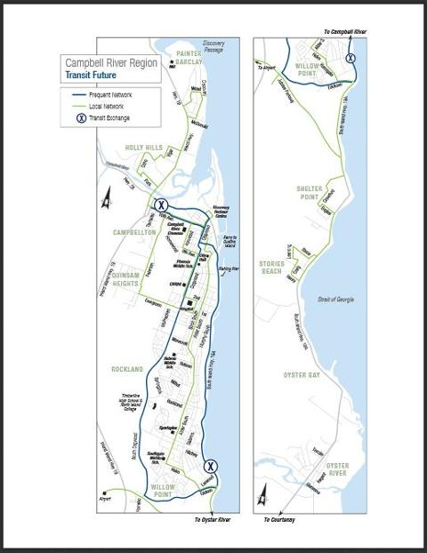 Campbell River Transit Future Map