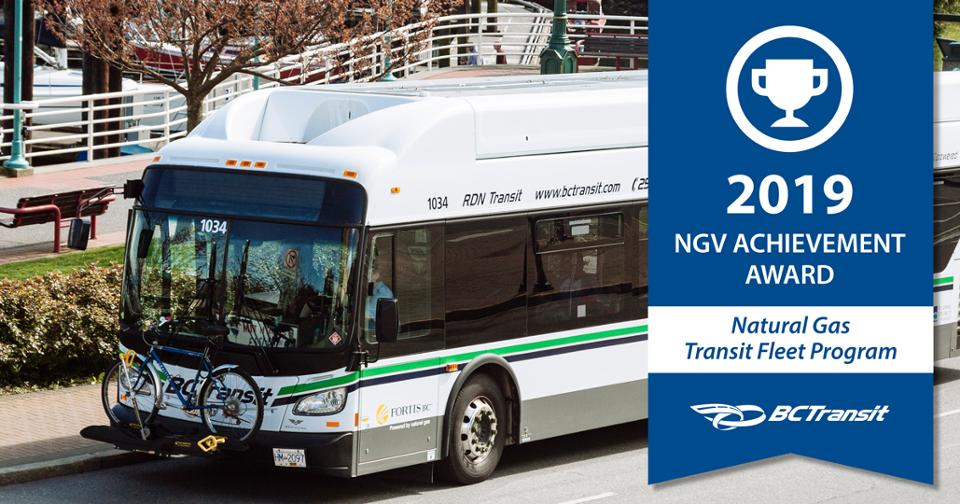 BC Transit Recognized with Natural Gas Transit Fleet - image